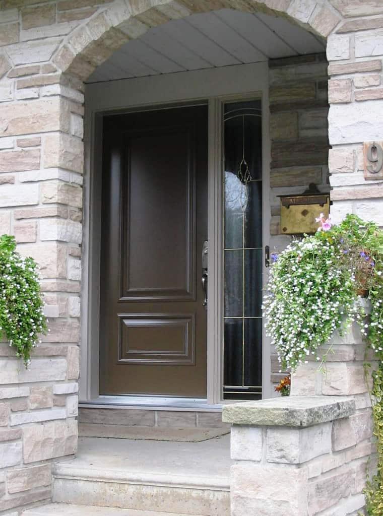 Side window beside a door