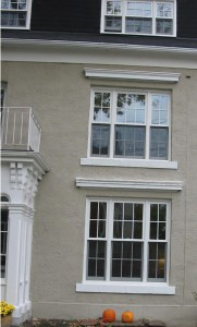 Replacement windows in a heritage home