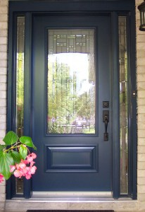 Replacement door with side windows