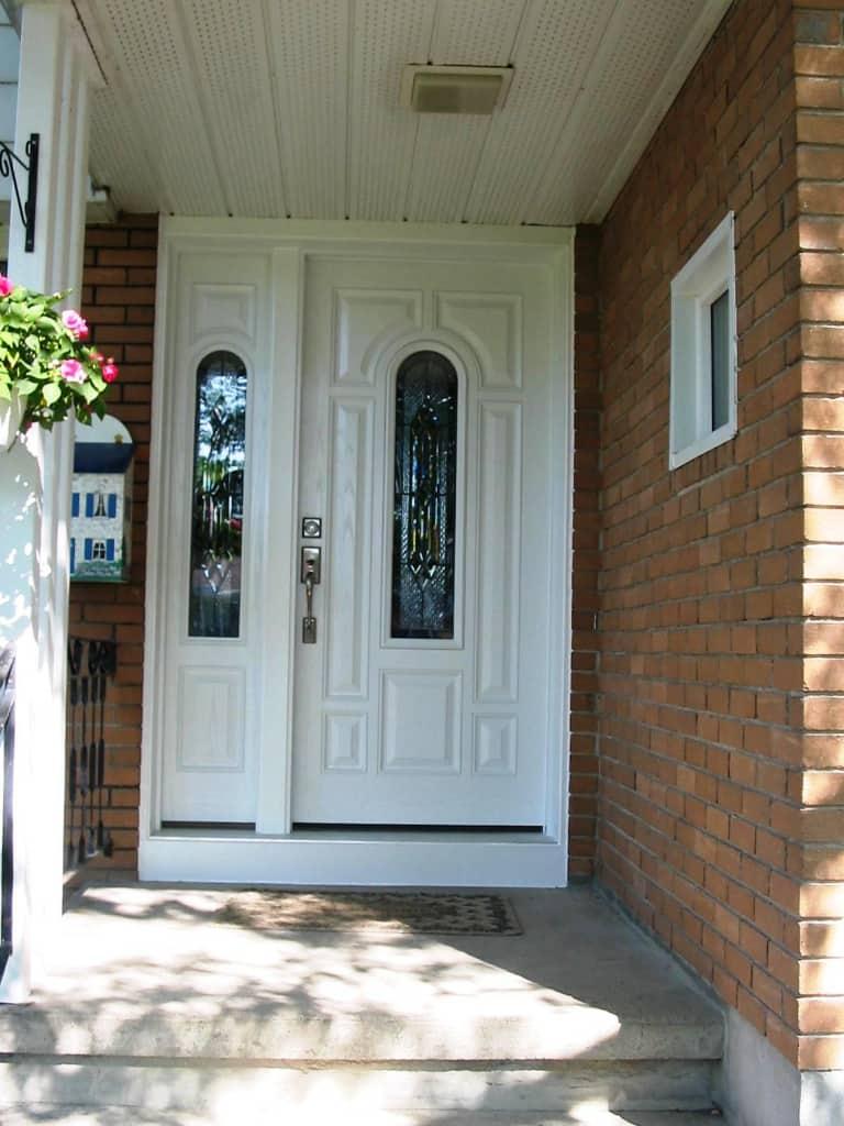 Door with glass insert