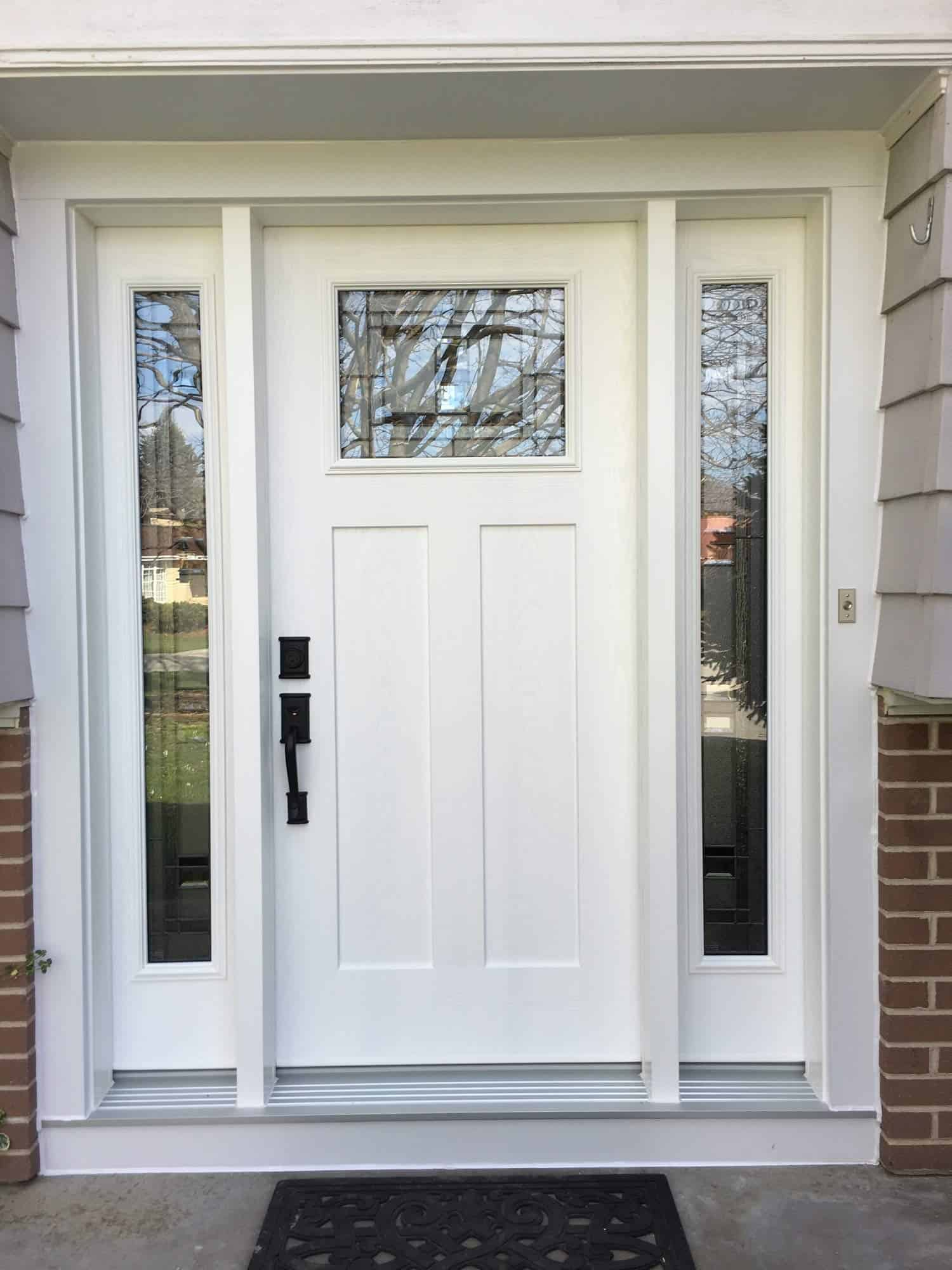 New door with side windows