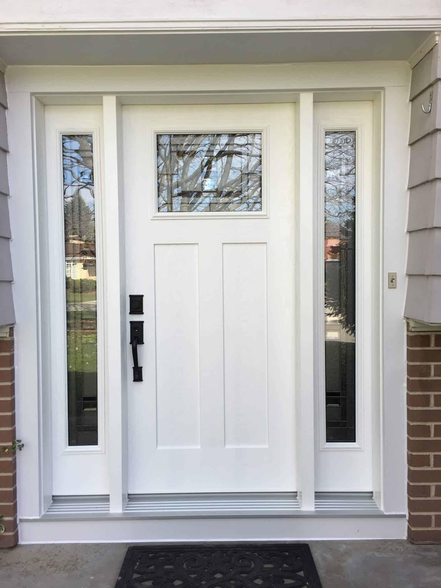 New door with side windows