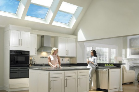 Velux fixed skylight shaft shade installation installed