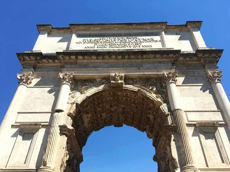 Arch of Titus, Rome Italy