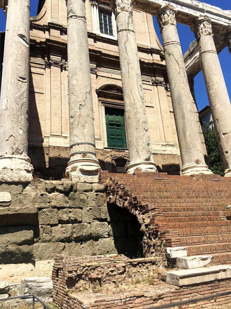 Ancient Rome columns