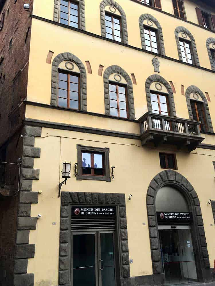 A bank in Siena, Italy